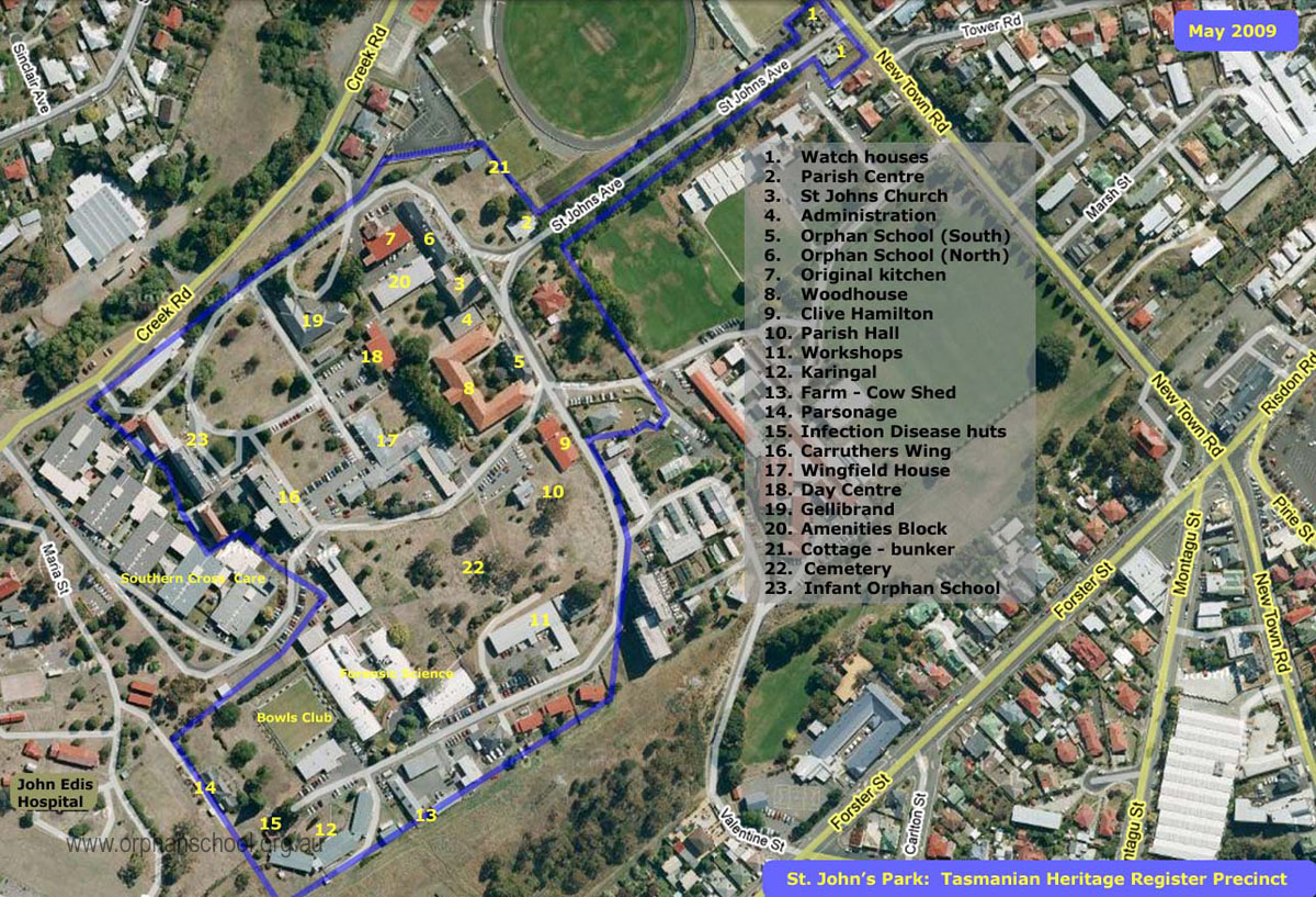 Map of St John's Park Precinct
